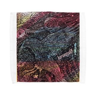 鴉屋  八咫烏1 Towel handkerchiefs