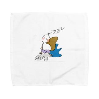 クウちゃんとねむねむ Towel handkerchiefs