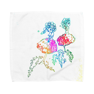 Seame*の双子きのこちゃん Towel handkerchiefs