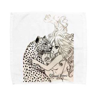女豹 Towel handkerchiefs
