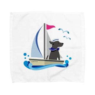 黒ラブ船長 Towel handkerchiefs