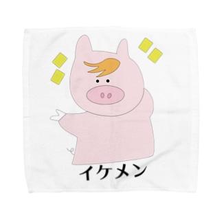 イケメンPig Towel handkerchiefs