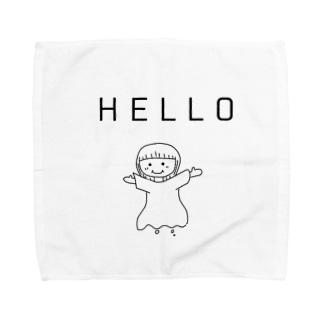 HELLO世界 Towel handkerchiefs