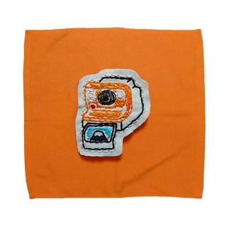 富士山とったときのポラロイドカメラ Towel handkerchiefs