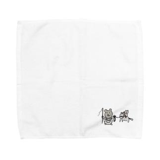 くまたんの乗馬練習 Towel handkerchiefs