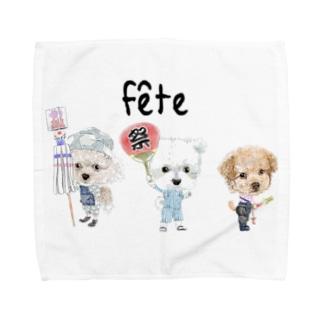 お祭りワンコ Towel handkerchiefs