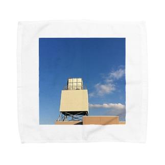 2017の秋の始まりの空 Towel handkerchiefs