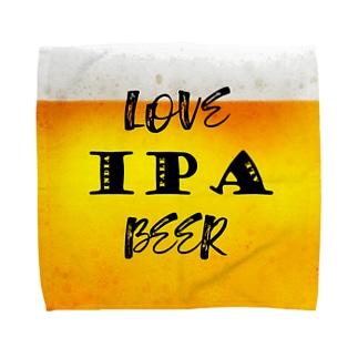 love IPA beer ver2 タオルハンカチ