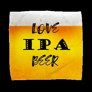 8garage SUZURI SHOPのlove IPA beer ver2 タオルハンカチ