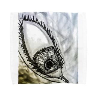 見下ろしてる目 Towel handkerchiefs