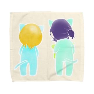 なかよしニャンコ。 Towel handkerchiefs