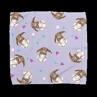 Fanfleecyのホーランドロップ(チェスナット) Towel handkerchiefs