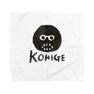 黒髭ロゴ Towel handkerchiefs