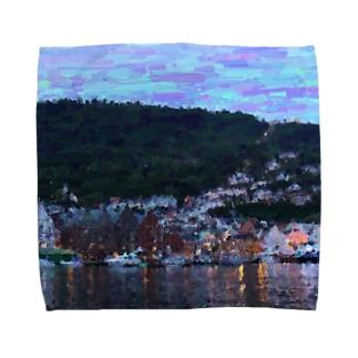 ベルゲンの街並み Towel handkerchiefs