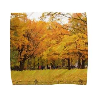 サンクトペテルブルクの黄葉 Towel handkerchiefs