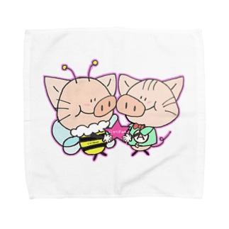 にゃりぶぅ仲良し Towel handkerchiefs