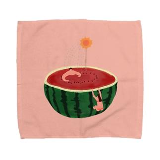 スイカで過ごす夏休み Towel handkerchiefs