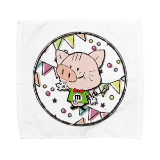 【M】にゃりぶぅアルファベット Towel handkerchiefs