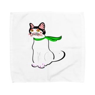 かつらねこ2018 Aug Towel handkerchiefs