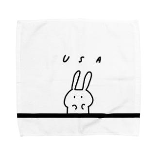 シンプルうさ Towel handkerchiefs