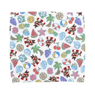 真夏のクッキー総柄シリーズ Towel handkerchiefs