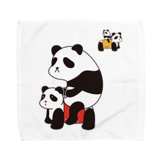パンダカー Towel handkerchiefs