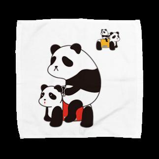 チョッちゃんのパンダカー Towel handkerchiefs