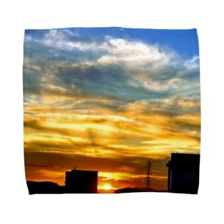 陽の沈み Towel handkerchiefs