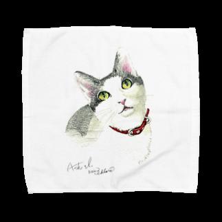 もけけ工房 SUZURI店のAsh baby Towel handkerchiefs