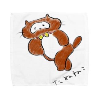たぬねこ1 Towel handkerchiefs