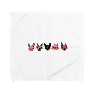 nicomuni葉っぱ仮面2 Towel handkerchiefs