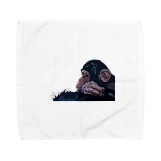 考えるチンパンジー Towel Handkerchief