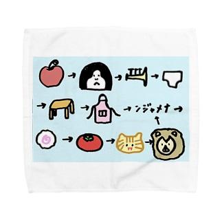 げきむずしりとり Towel handkerchiefs