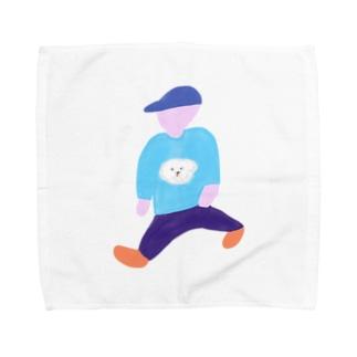 大股で歩く人 Towel handkerchiefs