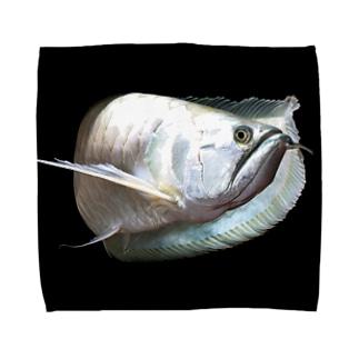 シルバーアロワナ Towel handkerchiefs
