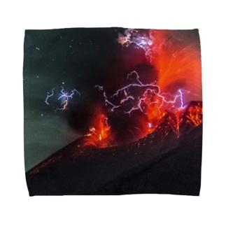 Sakurajima Volcano explosion1 Towel handkerchiefs