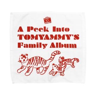 とらの親子 Towel handkerchiefs