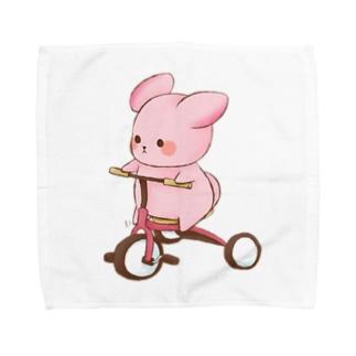 ゆめうさぎ三輪車がんばる! Towel handkerchiefs