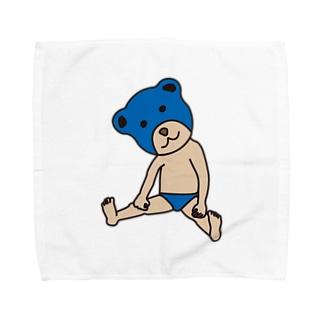 ベアレスラー 青 Towel handkerchiefs