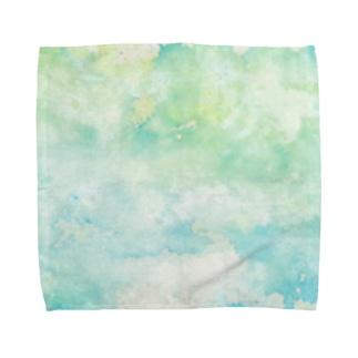 水滴の音が広がる世界 タオルハンカチ