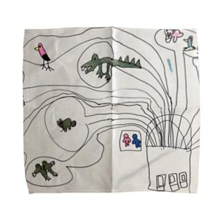 動物園 Towel handkerchiefs