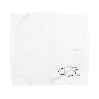 うつぶせパグ Towel handkerchiefs