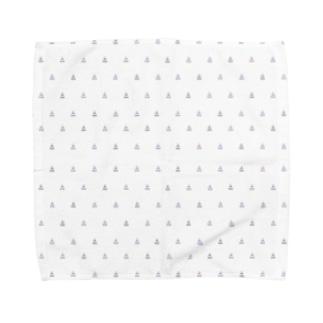 麦チョコ商店の組体操柄(小) Towel handkerchiefs