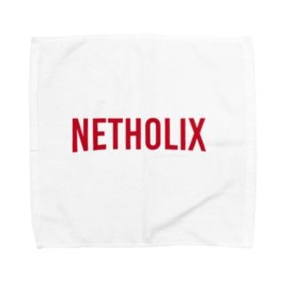 NETHOLIX(ネット中毒 赤 Towel handkerchiefs