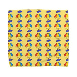 パラシュートウミウシさん イエロー Towel Handkerchief