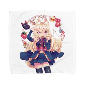 お狐様 Towel Handkerchief