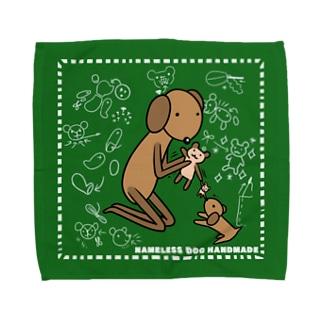 名前も知らない犬さん ハンドメイド Towel Handkerchief
