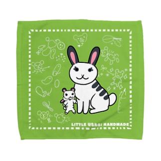 小さなうさぎさん ハンドメイド Towel Handkerchief