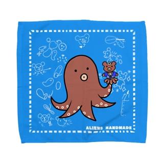 火星人さん ハンドメイド Towel Handkerchief