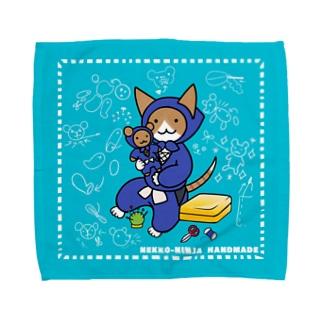 ねこ忍者さん ハンドメイド Towel Handkerchief